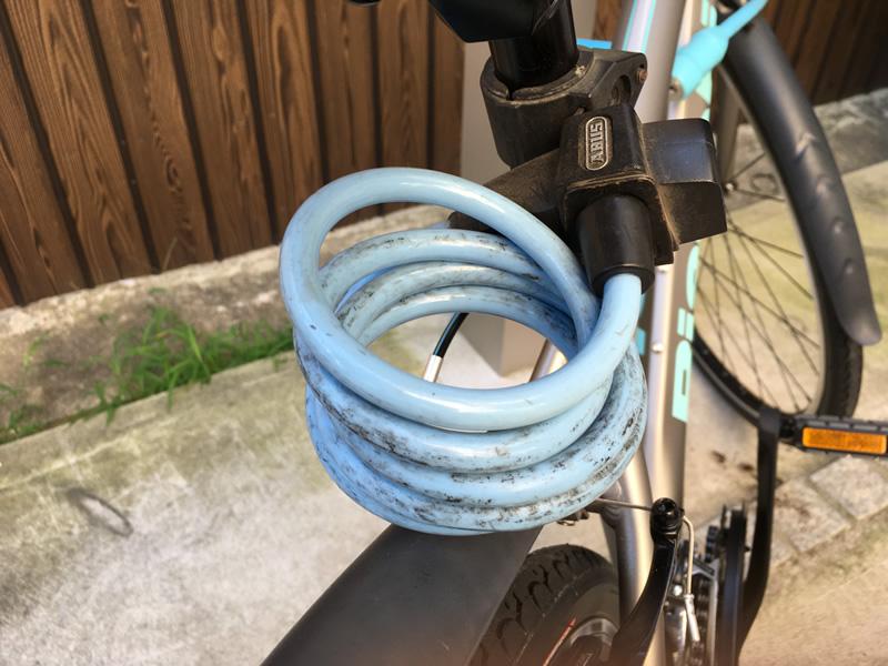 装着型クロスバイク用ワイヤーキー